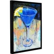 Ivy Bronx Royal Blue Martini Framed Painting Print; 48'' H x 36'' W x 2'' D