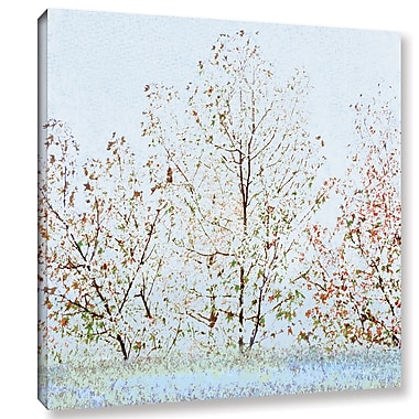 Ivy Bronx Lagon II' Painting Print on Wrapped Canvas; 14'' H x 14'' W x 2'' D