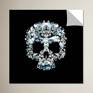 Ivy Bronx Cool Skull Graphic Art; 18'' H x 18'' W x 0.1'' D