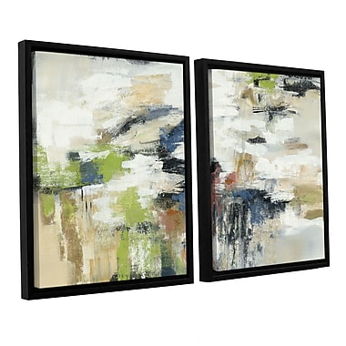 Ivy Bronx Highline View 2 Piece Framed Painting Print on Canvas Set; 32'' H x 48'' W x 2'' D