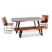 Union Rustic Reilly Wood Dining Bench