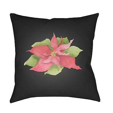 Ivy Bronx Philippa Poinsettia Indoor/Outdoor Throw Pillow; 18'' H x 18'' W x 4'' D
