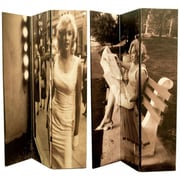 East Urban Home 71'' x 47'' Double Sided Vintage Sepia Manilyn Monroe 3 Panel Room Divider