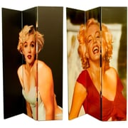 East Urban Home 71'' x 47'' Double Sided 3 Manilyn Monroe Poses 3 Panel Room Divider