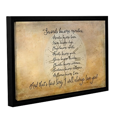 Winston Porter Seconds to Eon Framed Textual Art on Gallery Wrapped Canvas; 12'' H x 18'' W x 2'' D