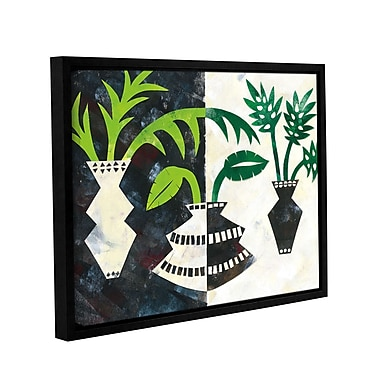 Ivy Bronx Pretty Palms V Framed Graphic Art on Wrapped Canvas; 18'' H x 24'' W x 2'' D