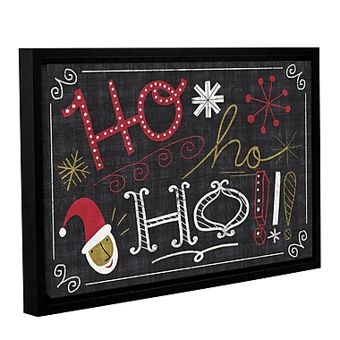 Ivy Bronx Quirky Christmas Santa Framed Painting Print on Wrapped Canvas; 24'' H x 36'' W x 2'' D
