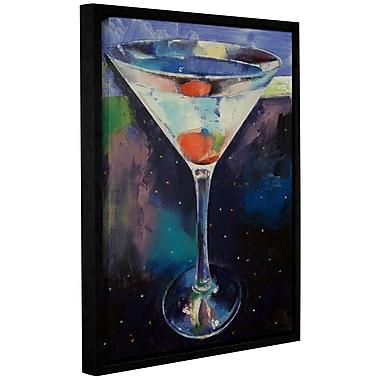 Ivy Bronx Bombay Sapphire Martini Framed Painting Print; 10'' H x 8'' W x 2'' D