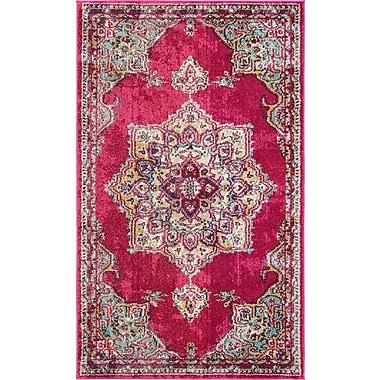 Mistana Charleena Pink Area Rug; 3'3'' x 5'3''
