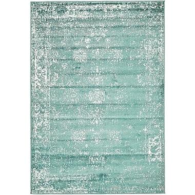 Mistana Brandt Turquoise / White Area Rug; 8' x 10'
