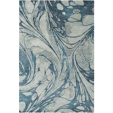 Ivy Bronx Moira Hand-Tufted Sea Foam/Teal Area Rug; 8' x 10'