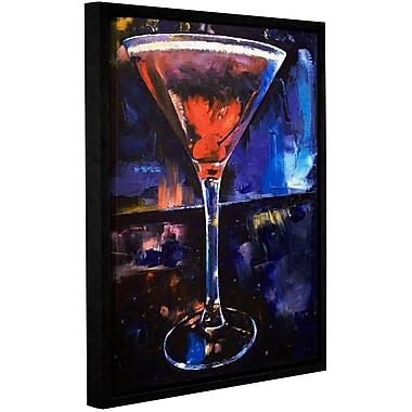 Ivy Bronx Backstage Martini Framed Painting Print; 18'' H x 14'' W x 2'' D
