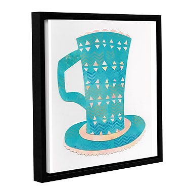 Ivy Bronx Caf Collage Master Framed Graphic Art on Wrapped Canvas; 14'' H x 14'' W x 2'' D