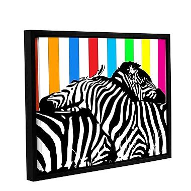 Ivy Bronx Zebra Pop Framed Graphic Art on Wrapped Canvas; 18'' H x 24'' W