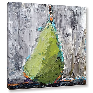 Ivy Bronx Jazzy Pear Painting Print on Wrapped Canvas; 36'' H x 36'' W x 2'' D