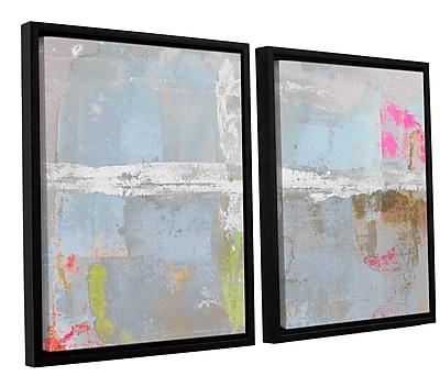 Ivy Bronx Statistics XI' 2 Piece Framed Painting Print Set; 24'' H x 36'' W x 2'' D