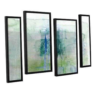 Ivy Bronx Statistics X' 4 Piece Framed Painting Print Set; 24'' H x 36'' W x 2'' D