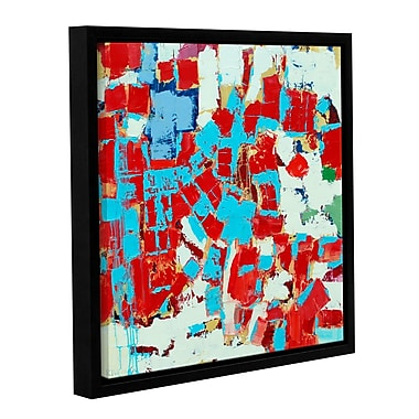 Ivy Bronx Fire and Ice Framed Painting Print on Wrapped Canvas; 14'' H x 14'' W x 2'' D