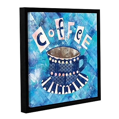 Ivy Bronx Caf Collage I Framed Graphic Art on Wrapped Canvas; 36'' H x 36'' W x 2'' D