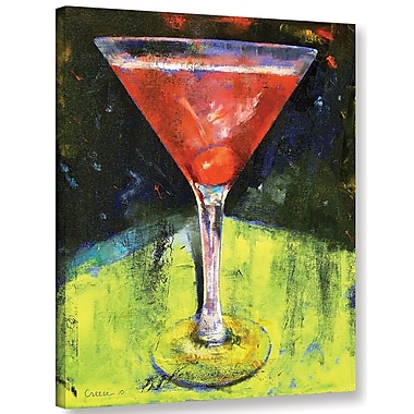 Ivy Bronx Comfortable Cherry Martini Painting Print on Wrapped Canvas; 18'' H x 14'' W x 2'' D