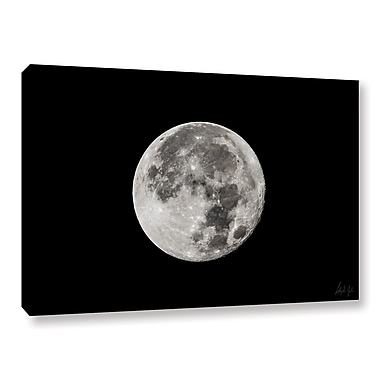 Ivy Bronx Supermoon Closeup Photographic Print on Wrapped Canvas; 24'' H x 36'' W x 2'' D