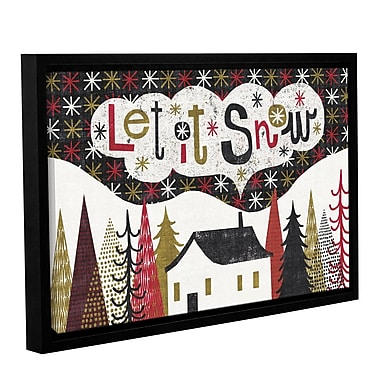 Ivy Bronx Quirky Christmas Cabin Framed Painting Print on Wrapped Canvas; 12'' H x 18'' W x 2'' D