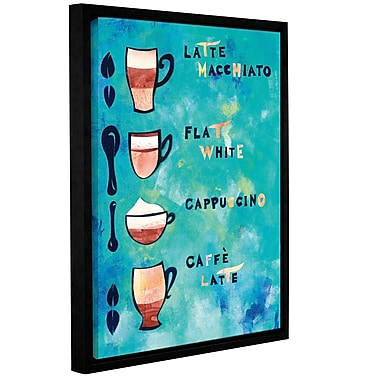Ivy Bronx Caf Collage V Framed Graphic Art on Wrapped Canvas; 10'' H x 8'' W x 2'' D