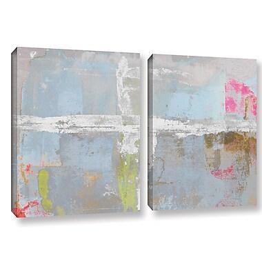 Ivy Bronx Statistics XI' 2 Piece Painting Print on Canvas Set; 32'' H x 48'' W x 2'' D