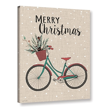 Ivy Bronx Merry Christmas Bike Textual Art on Wrapped Canvas; 48'' H x 36'' W x 2'' D