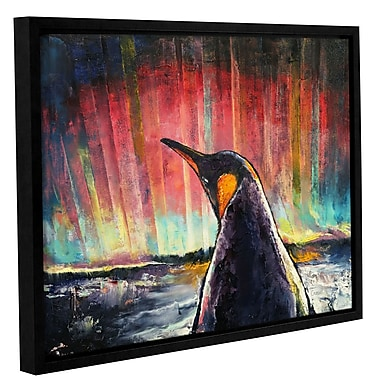 Ivy Bronx Penguin Framed Painting Print; 8'' H x 10'' W x 2'' D