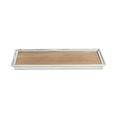 Mistana Solid Simple Rectangle Tray (Set of 2)