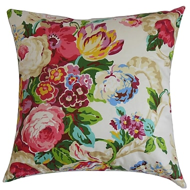 August Grove Jill Floral Bedding Sham; Euro