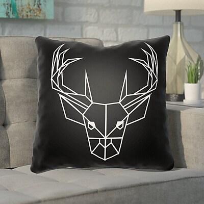 Ivy Bronx Noa Geometric Caribou Indoor/outdoor Throw Pillow; 16'' H x 16'' W x 4'' D