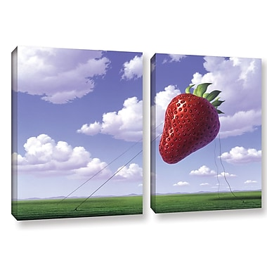 Ivy Bronx Strawberry Field 2 Piece Photographic Print on Wrapped Canvas Set; 18'' H x 28'' W x 2'' D