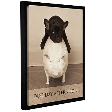 Latitude Run Dog Day Afternoon Framed Photographic Print on Wrapped Canvas; 18'' H x 14'' W x 2'' D