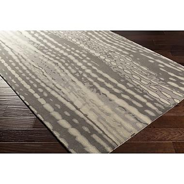 Ivy Bronx Romola Modern Hand-Tufted Medium Gray Area Rug; 2' x 3'
