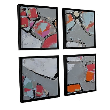 Ivy Bronx Mod Flowers 4 Piece Framed Painting Print Set; 48'' H x 48'' W x 2'' D