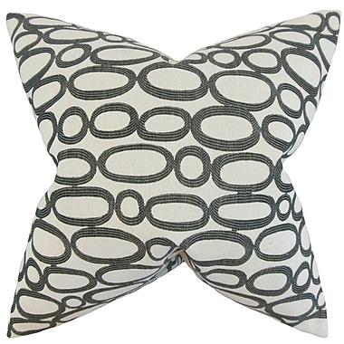 Red Barrel Studio Penshire Geometric Throw Pillow Cover; Ebony