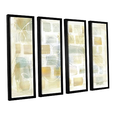 Brayden Studio Caracalla Neutral I 4 Piece Framed Graphic Art on Wrapped Canvas Set