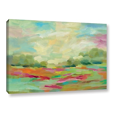 Brayden Studio Sunny Fields Painting Print on Wrapped Canvas; 8'' H x 12'' W x 2'' D