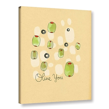 Ivy Bronx Olive You Painting Print on Gallery Wrapped Canvas; 18'' H x 14'' W x 2'' D