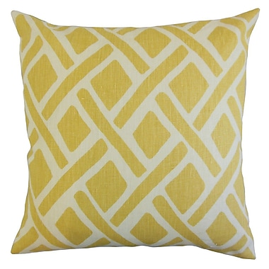 Latitude Run Buono Geometric Throw Pillow Cover; Sunflower