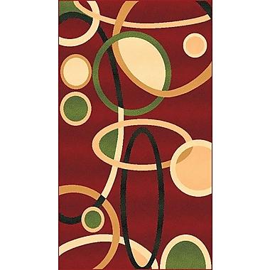 Brayden Studio Willey Geometric Red Area Rug