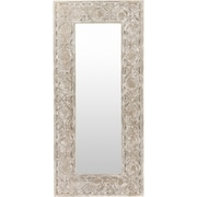 Mistana Rectangle Weathered Pewter Leaning Mirror