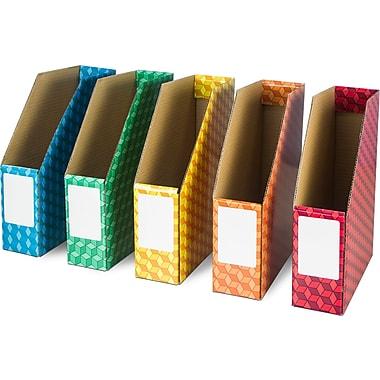 Rebrilliant Laminated Corrugated Magazine File (Set of 6)