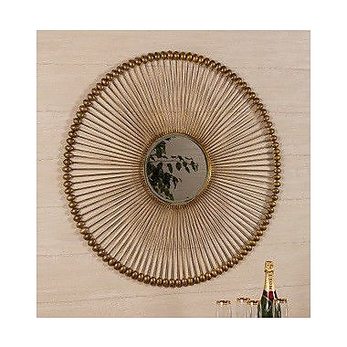 Mistana Round Metal Wall Mirror