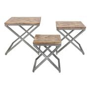 Mistana Fanchon 3 Piece X-Leg Wood End Table Set