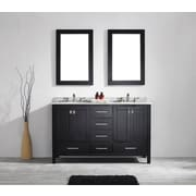 Brayden Studio Pichardo 60'' Double Wood Bathroom Vanity Set