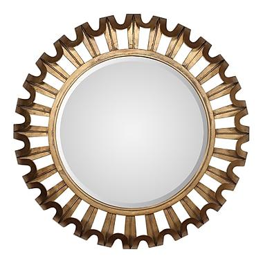 Brayden Studio Round Textured Wall Mirror