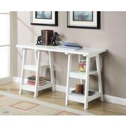 Charlton Home Schererville Double Trestle Ladder Desk